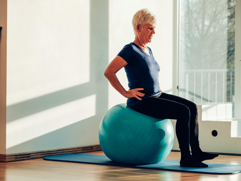 Beckenboden Training mit Pezziball