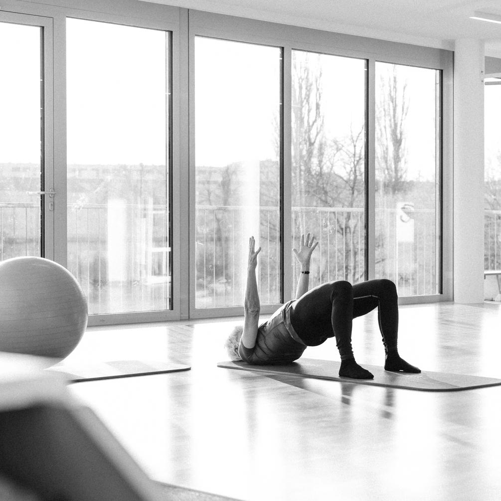 Beckenboden Physiotherapie im Trainingsraum